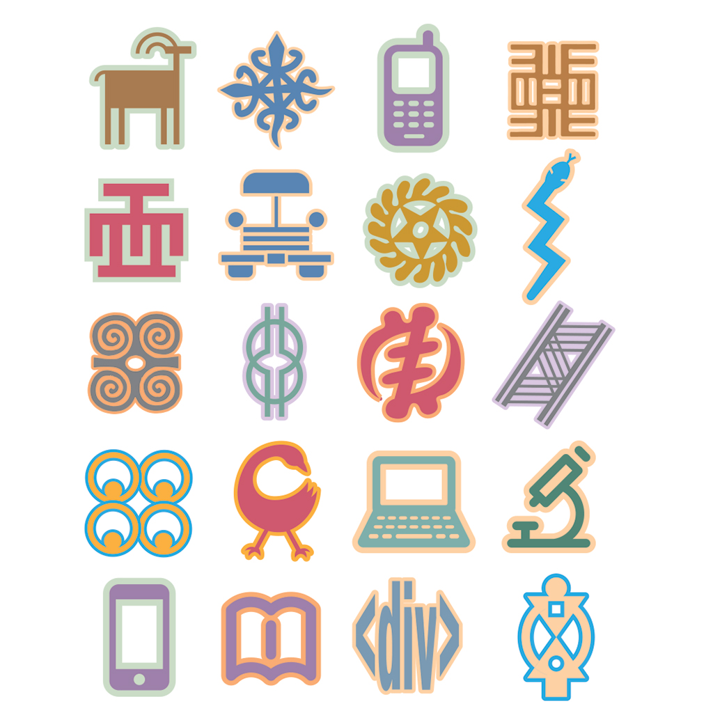 Yamoransa ICTC glyphs