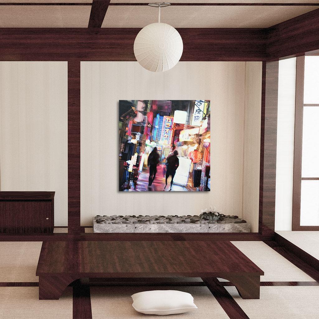 shimokitazawa oil painting